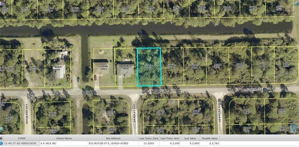 Land for Sale at 933 BUTLER STREET E Lehigh Acres, Florida 33974 United States