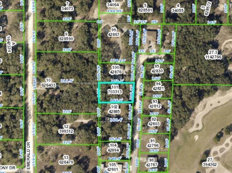 Land for Sale at 6175 FAIRWAY DRIVE Ridge Manor, Florida 33523 United States