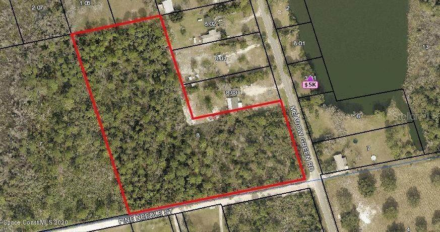 Land for Sale at CORNER OF MEADOW GREEN RD AND NEEDLE Street Mims, Florida 32754 United States