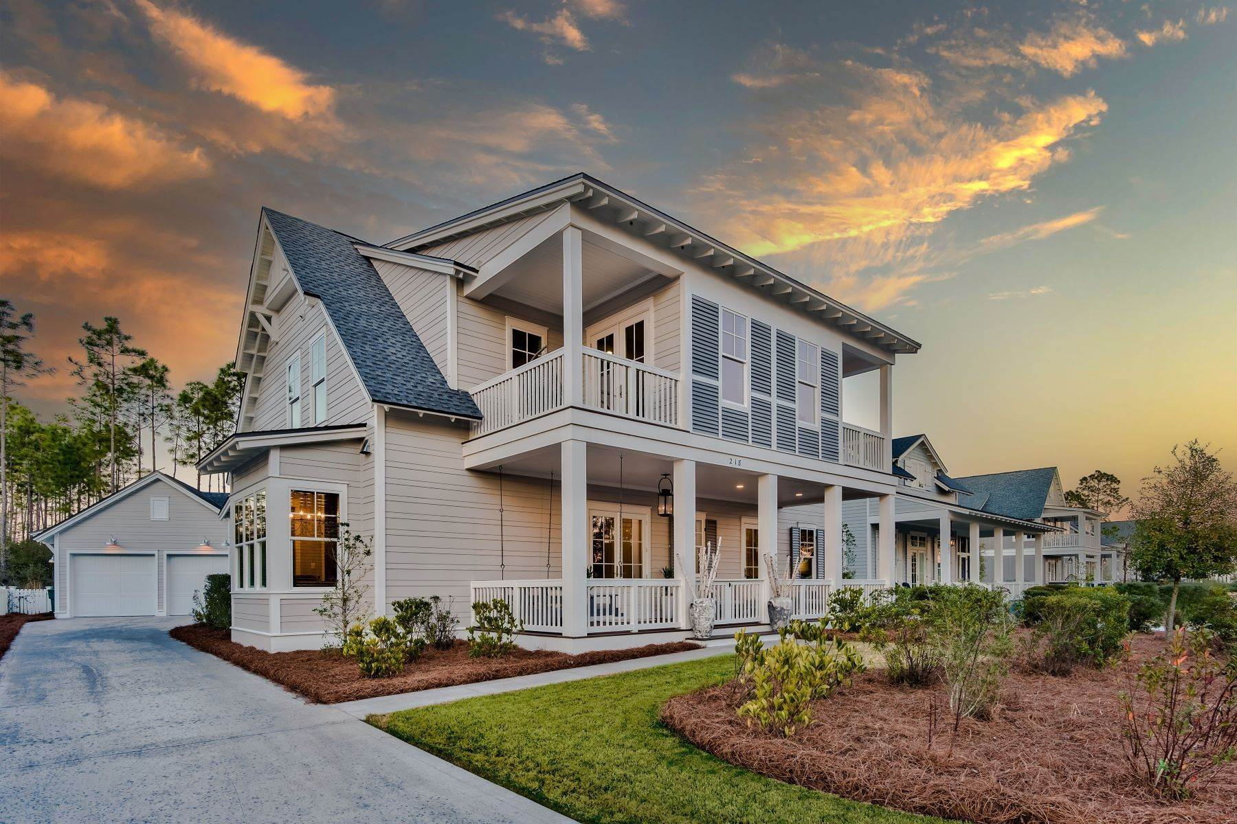 Single Family Homes for Sale at One-of-a-kind Custom Designer Home in Watersound Origins 218 North Splash Drive Inlet Beach, Florida 32461 United States