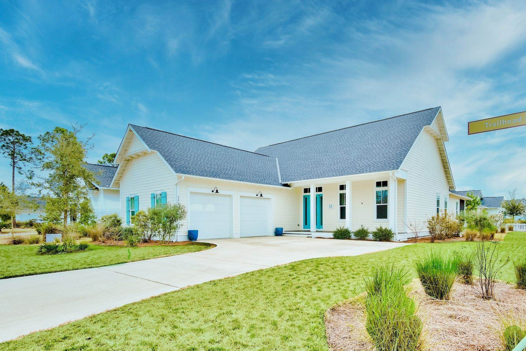 Single Family Homes for Sale at Custom Built Home on Corner Lot in Watersound Origins 282 Trailhead Drive Inlet Beach, Florida 32461 United States