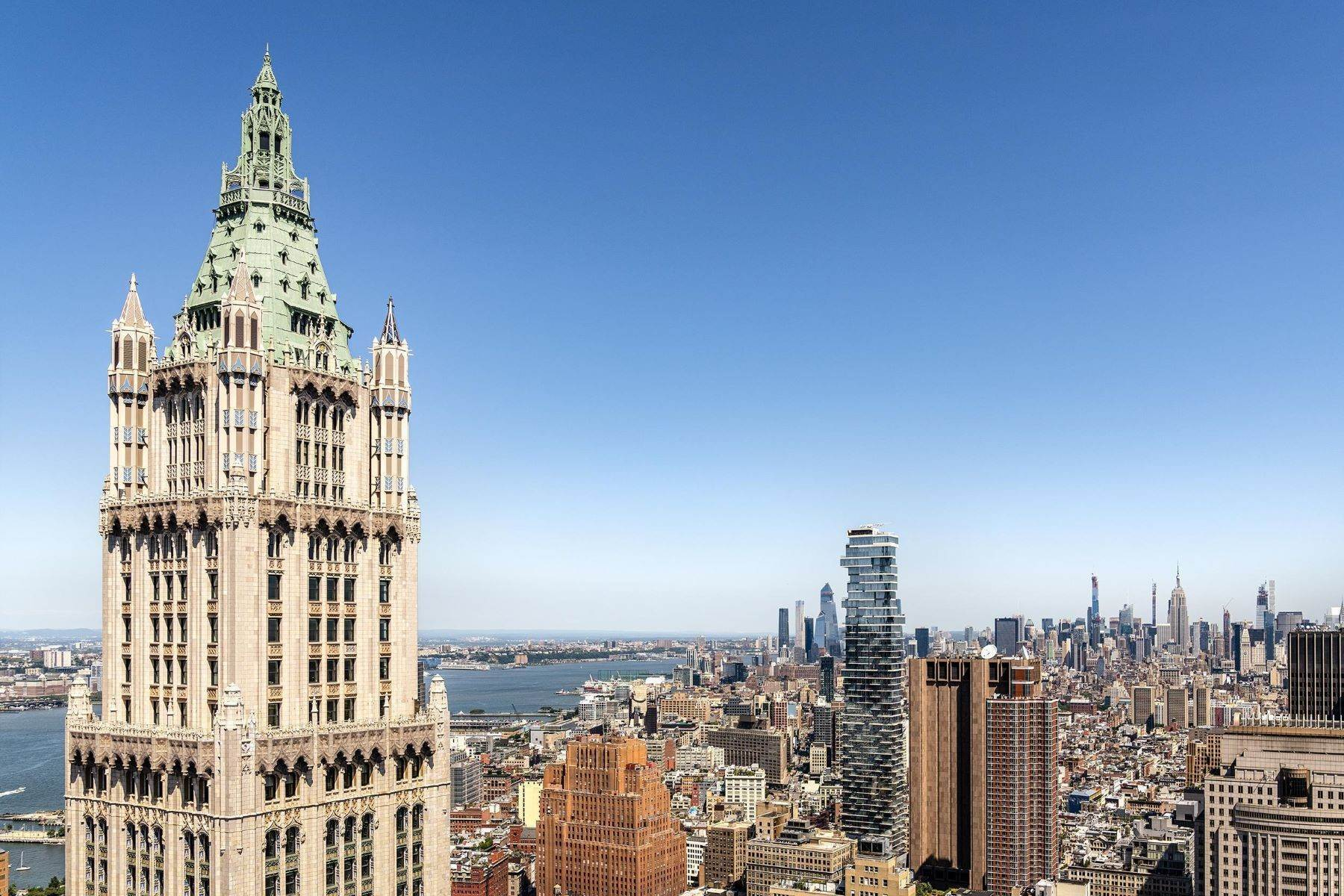 Condominiums por un Venta en The Pinnacle Penthouse 2 Park Place, Pinnacle Penthouse New York, Nueva York 10007 Estados Unidos