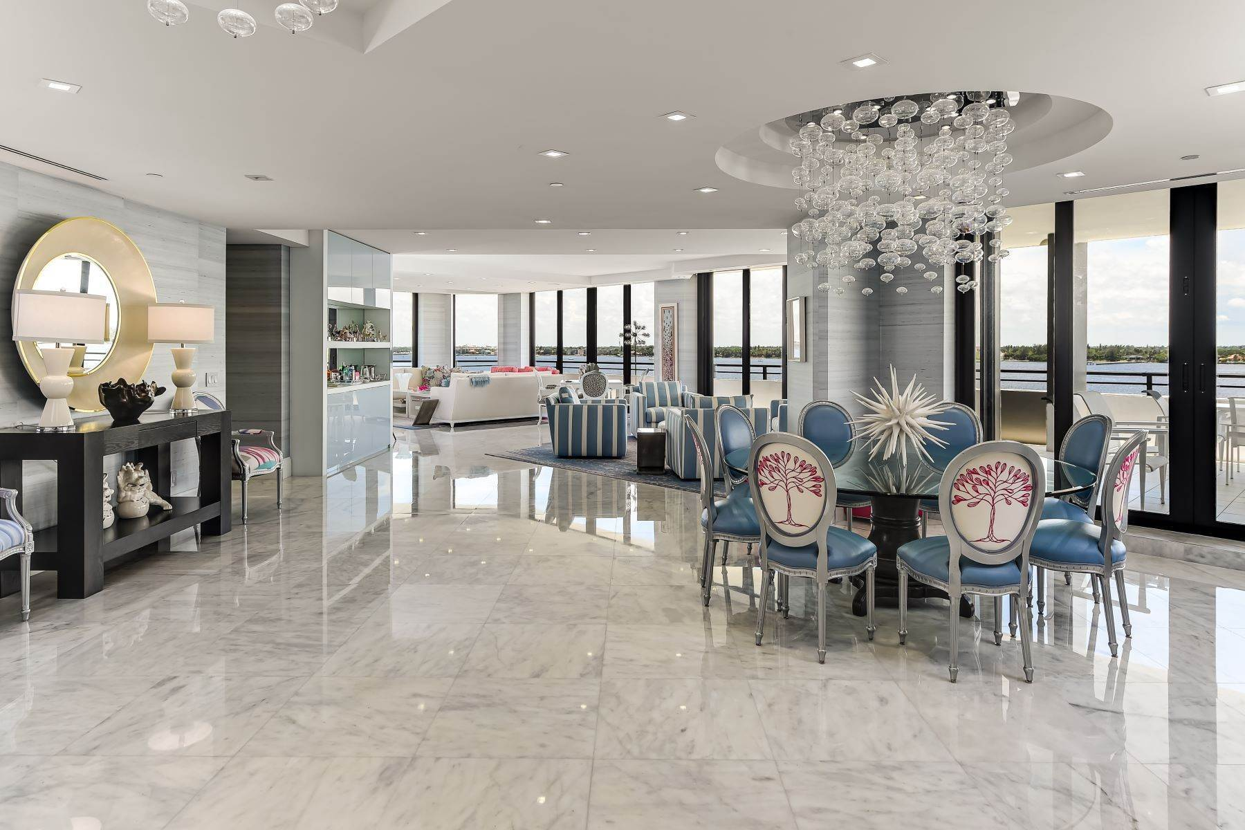 Condominiums for Sale at Glamorous Trophy Penthouse 3100 S Ocean Blvd, PH 607S, C15 Palm Beach, Florida 33480 United States